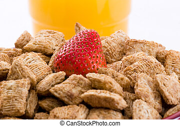Wheat Squares for Breakfast - Breakfast Series - Close-up of...