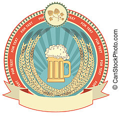 wheat symbol of  label.Vector background on white for text