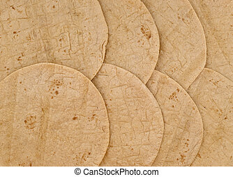 wheat tortilla background - texture and pattern of...