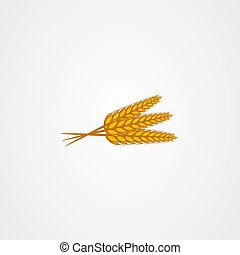 Wheat vector illustration isolated on white background