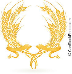 Wheat wreath, vector
