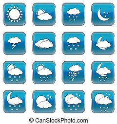 Wheather forecast web buttons
