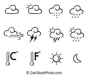 wheather set - A collection of weather icons in vector ...