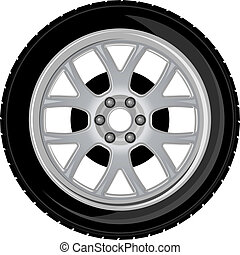 Wheel and tire for transport or service design
