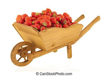 Wheel barrow strawberries