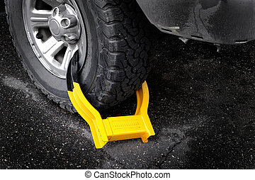 Wheel Boot or Tire Lock for Illegal Parking Violation ...