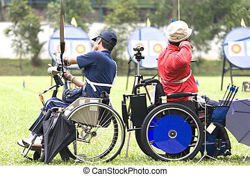 Wheel Chair Archery for Disabled - Wheel chair archery for...