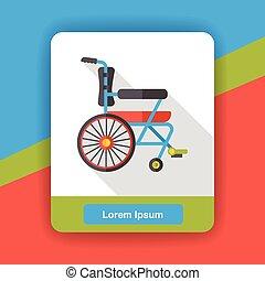 Wheel chair flat icon