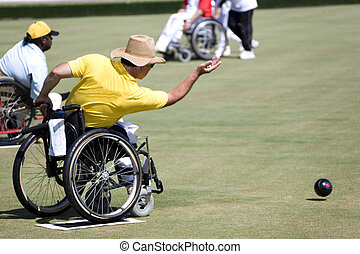 Wheel Chair Lawn Bowls for Disabled