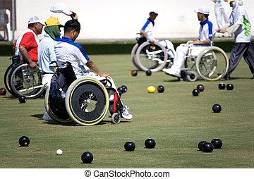 Wheel Chair Lawn Bowls for Disabled - Wheel chair lawn...