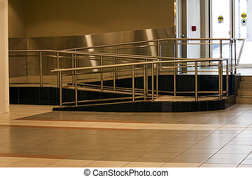 Wheel chair ramp. - Wheel chair ramp in the +15 system in...