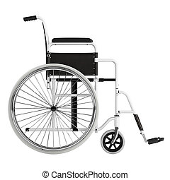 Wheel chair isolated on white background