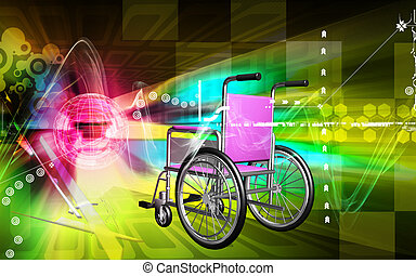 Wheel chair - Digital Illustration of wheel chair in colour...