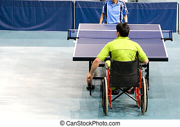Wheel Chair Table Tennis - International wheel chair table...