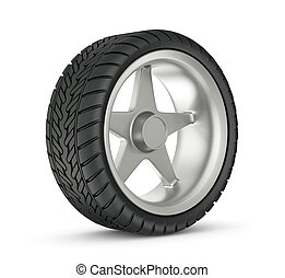 wheel - modern wheel isolated on a white background
