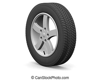 Wheel - Detailed wheel and tire (3d render)