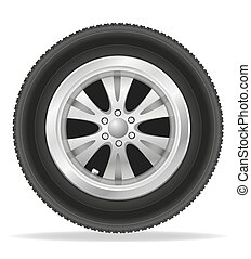 wheel for car vector illustration