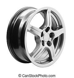 Generic metallic alloy car wheel