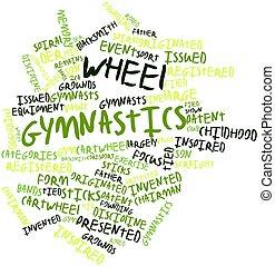 Wheel gymnastics - Abstract word cloud for Wheel gymnastics...