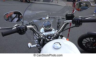 Wheel Harley Davidson bike. Shot in 4K (ultra-high...