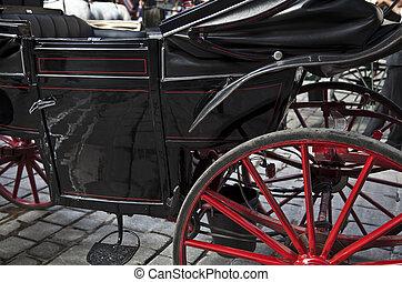 wheel horse-drawn carriage