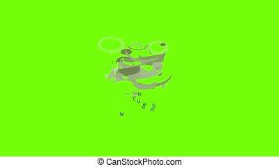 Wheel hub icon animation cartoon object on green screen background