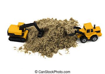 Wheel loader and hydraulic excavator