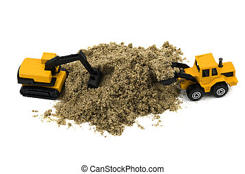Wheel loader and hydraulic excavator - Compact wheel loader...
