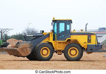 wheel loader bulldozer