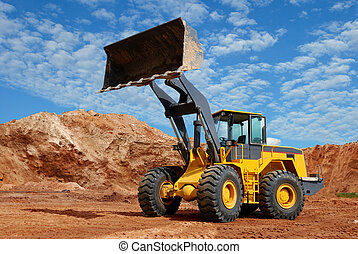 wheel loader bulldozer in sandpit - wheel loader bulldozer ...