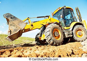 wheel loader excavator earthmoving