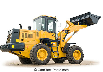 wheel loader excavator isolated - One Loader excavator...