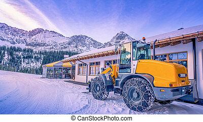 Wheel loader winter adapted
