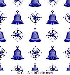 wheel., motívum, seamless, vezetés, hajó, tengeri, csónakázik