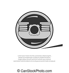 Wheel of a rail car isolated on background. Vector ...