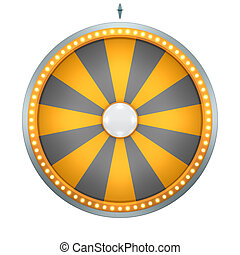 wheel of fortune black and orange