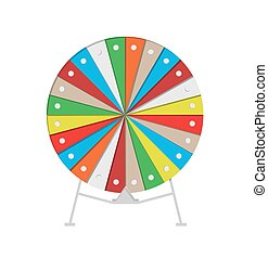 wheel of fortune - colorful wheel of fortune on white...