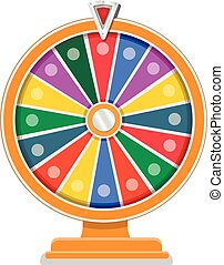 Wheel of fortune flat design template vector