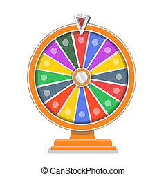 Wheel of fortune flat gamble design template