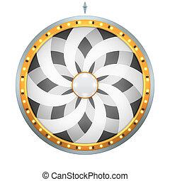 wheel of fortune flower black white