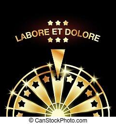 Wheel of Fortune. Golden casino gaming machine illustration.