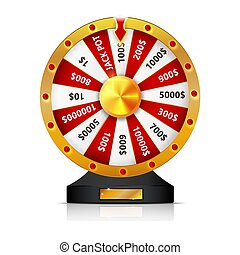 wheel of fortune isolated vector object on white background.