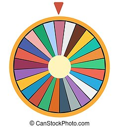 Wheel of Fortune luck flat icon