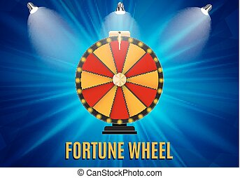 Wheel of Fortune, Lucky Icon with Place for Text. Vector Illustration