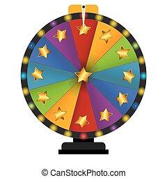 Wheel of Fortune, Lucky. Vector Illustration EPS10