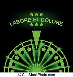 Wheel of Fortune. Neon casino gaming machine illustration.
