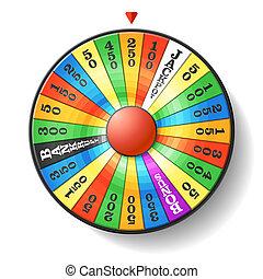 Wheel of fortune - Vector illustration