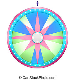 wheel of fortune with star pattern