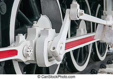 Wheel of old Steam locomotive