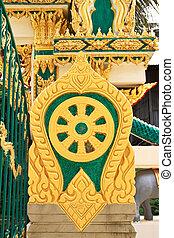 Wheel of the law or dhammacakka